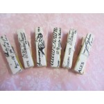 Decoupaged Pegs